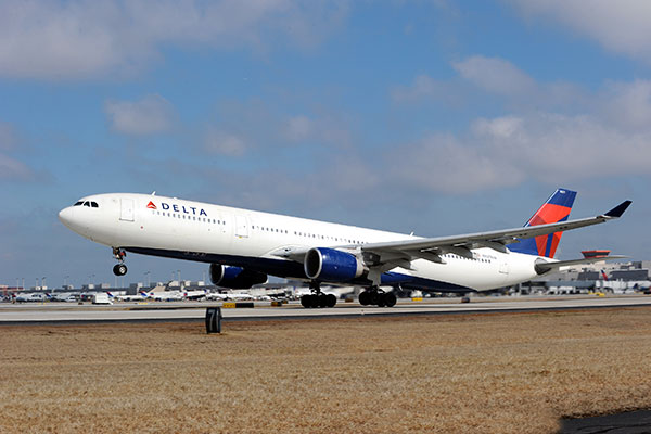 Delta Employees Take Delivery of New Airbus A330-300 Aircraft
