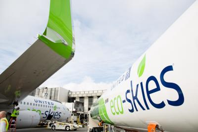 United Airlines Makes History with Launch of Regularly Scheduled Flights Using Sustainable Biofuel